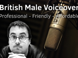 Record a professional British male voiceover track