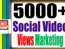Get you 3,000 HQ Social Views for Your Video To Improve Social Media And Video