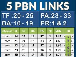 Do 25 permanent PBN contextual backlinks trust flow 20