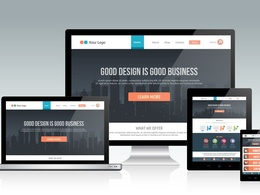 Convert Homepage/ Landing Page PSD Design to Responsive HTML/CSS
