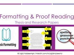 Format and proof read your thesis and research papers