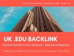 Backlink from .EDU UK DA70 to boost SEO **Apprentice / Graduate**