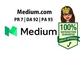 Guest Post in Medium - Medium-com Medium.com PR 7 DA 92