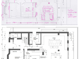 Create 2D CAD plans from hand sketches