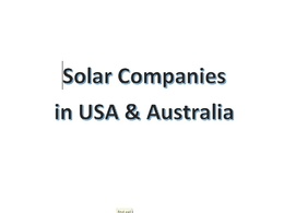 Provide a list of Solar Companies in USA & Australia