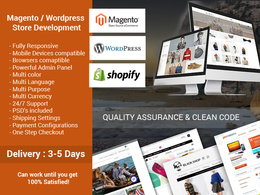 Design a Fully Responsive Magento / Wordpress eCommerce Website, Online Store / Shop