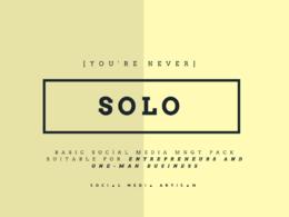 """Be your Social Media Storyteller -""""SOLO"""" Pack"""