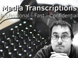 High Quality Media Transcriptions (1-30mins, ICO/DPA registered)