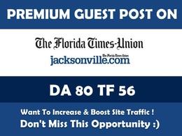 Publish Guest Post on Jacksonville.com - DA 80