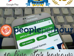 Give 10 Google Play Positive 5 Star Reviews for your Android App