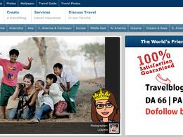 Write a Guest post on travelblog.org  DA66 Dofollow backlink