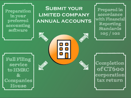 Provide an hour of accountancy service for completion of Annual accounts