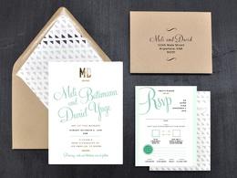 Design a beautiful wedding invitation