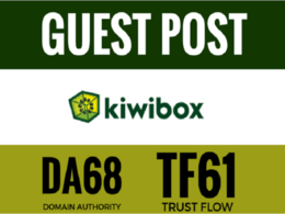 Publish a guest Post On KiwiBox DA74 Dofollow links