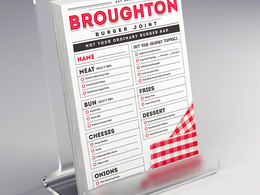 Your new One Sided A4 restarurant or bar menu design