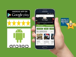 Add 15 android app review with 5-star rating on your Application