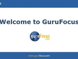 Guest Post on GuruFocus.com