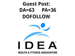 Guest post on Ideafit.com – Fitness Website - Dofollow link