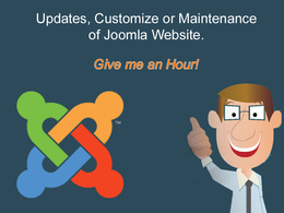 Fix issue of Joomla, Updates or Maintenance of Joomla Website.