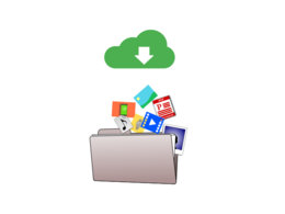 Download and organize images and files