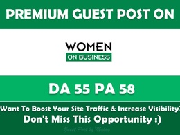 Guest Post on Women On Business. Womenonbusiness.com - DA 55