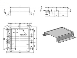 Design a 3D model of a mechanical part including a detailed technical drawing