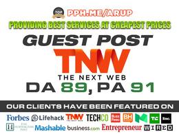 Write and Publish a guest post on TheNextWeb | TheNextWeb.com | DA89 PA91
