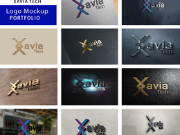 Create 3D logo mockups in 5 different styles