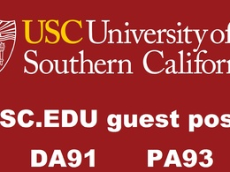 Publish edu guest post on  da 91 website usc.edu