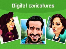 Draw a custom Digital Caricature, Cartoon from photo