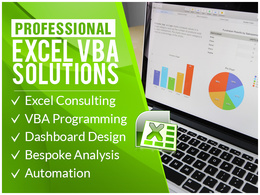 Develop a professional bespoke Excel application with VBA