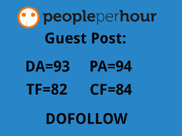 Publish a guest post on DA=93 PA=94 TF=82 CF=84
