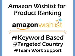 Do 400 Amazon Wishlist for Product Ranking