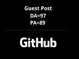 Publish a guest post on Github – Github.com – DA=97 PA=89 TF=93 CF=91