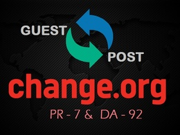 Publish Guest post on change.org with do-follow link