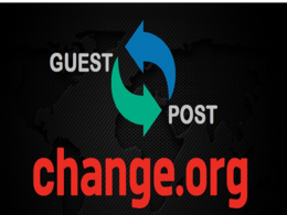 I will write and publish a guest post on Change.org