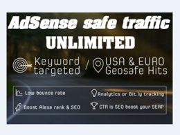 Get Daily 1000+ AdSENSE safe traffic for 1 month