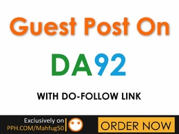 Give you DA92 Guest Post with do-follow link