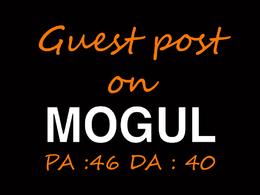 Publish a guest post on Onmogul.com