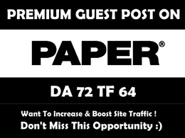 Write and publish article on papermag com with do follow backlink DA72 , PA67, TF64
