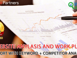 Website anylasis and work paln report with Keyword + Competitor Analysis