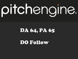 Publish a guest post on - PitchEngine.com - DA64, PA65