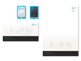 Design a professional stationery package with revisions