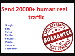 Drive 20000+ human traffic from Social media