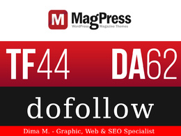 Publish a guest post on MagPress.com - DA62, TF44