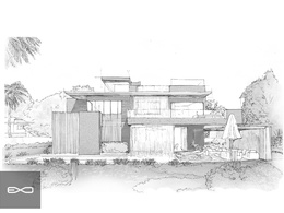 Make classic pen and pencil sketch of your building design