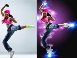 Photoshop 1 image ( cut out, edit, retouch, recolour,....)