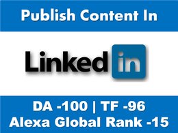 Write & Publish 1000 words Content on Linkedin.Com