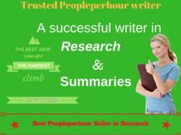 Offer Assistance In Online Research and Research papers (500 words task)