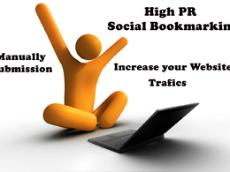 Manually create 50 High Pr Social Bookmarking, Backlinks for website improving